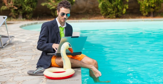 pool laptop